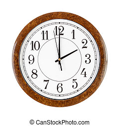 Clock face showing 2 o'clock - A white clock face showing...