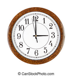 Clock face showing 3 oclock - A white clock face showing 3...