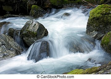 Mountain River - Small Mountain River Closeup North Cascades...