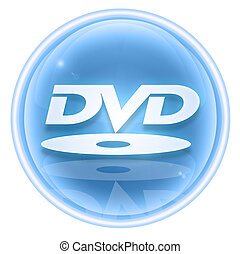 DVD icon ice, isolated on white background