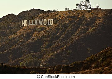 Hollywood Sign - Hollywood Hills, California, USA....