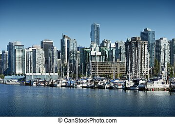 Vancouver Cityscape. British Columbia, Canada. Downtown...