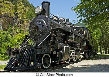 Steam Locomotive - Old Western Steam Locomotive - Historical...