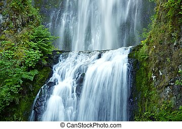 Multnomah Waterfalls in Oregon, USA. Multnomah Falls...
