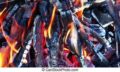 Coal and Wood Fire