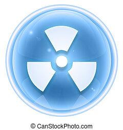 Radioactive icon ice, isolated on white background.
