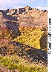 Badlands, South Dakota Vertical Photography of Badlands...