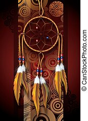 Native American Art Background Illustration Dark...