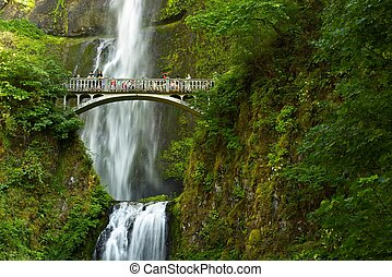 Oregon Multnomah Falls, Oregon, USA. Waterfalls Photo...