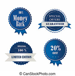 Collection of Premium Quality and Guarantee Labels.vector...