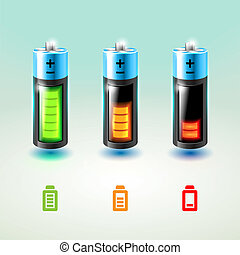 Set of vector batteries. Charge conditions. - Set of vector...