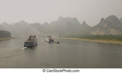 on the Lijiang River, China - on the Lijiang River to the...