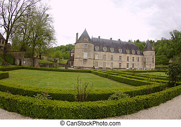 The castle of Bussy-Rabutin - Count Roger de Rabutin from a...