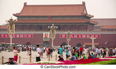 View of Tiananmen Square, Beijing, China