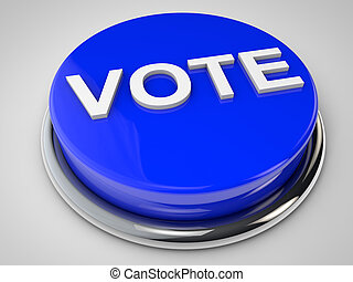 Vote - Button over white background