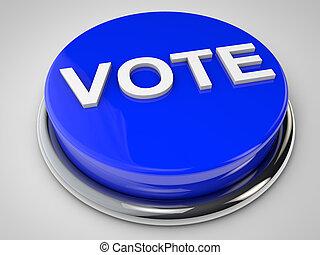 Vote - Button over white background