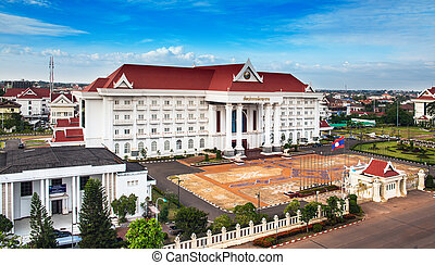 Government office,Vientiane,Laos - Vientiane Viang chan,...