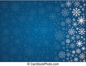 Vector frosty snowflakes background - Blue background from...