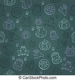 Halloween seamless background Vector illustration -...