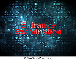 Education concept: Entrance Examination on digital...