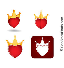 Abstract icon set with heart