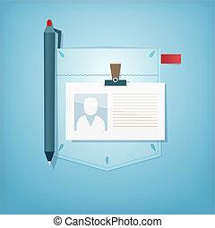 Pocket Design. Office profession.