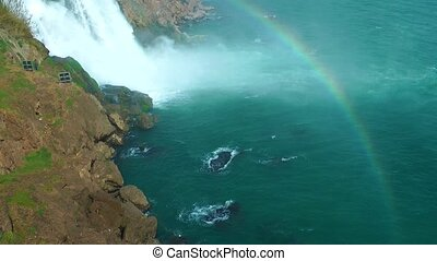 Waterfall and the rainbow
