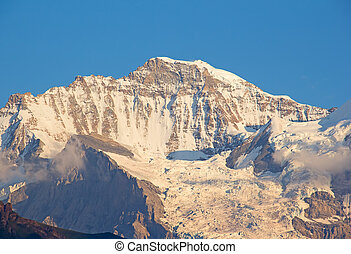 Jungfrau - Famous mountain Jungfrau in the swiss alps