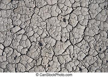 Mud Texture XVI - Unique cracked mud texture with various...