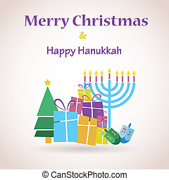 happy Hanukkah and merry christmas - happy Hanukkah and...