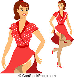 Beautiful pin up girl 1950s style