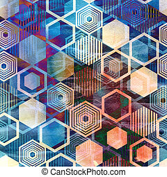 geometric ornament - Seamless graphic pattern of repeating...