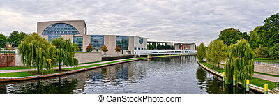 Spree river and Federal Chancellery, Berlin, Germany - Spree...