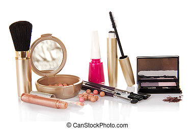Big set of makeup - Lip gloss, mascara, eye shadow,the blush...