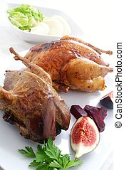 roast grouse and pheasant