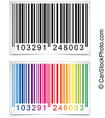 Barcode - Illustration of colorful barcode on white...