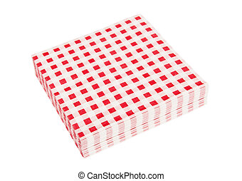 Red napkins - Red napkinds isolated on the white background
