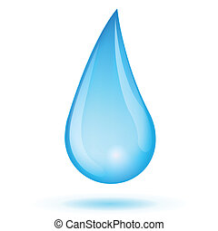 Drop water - Vector illustration of drop water isolated on...