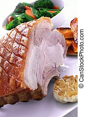 roast pork rib rack