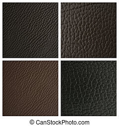 backgrounds of leather texture - Set from 4 backgrounds of...