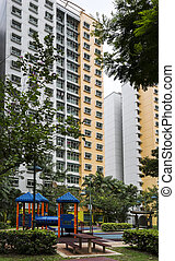 residential estate - A vertical shot of a residential estate...