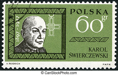 POLAND - 1963: shows Karol Swierczewski Walter 1897-1947 -...