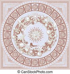 Christmas Advent Round Calendar - Christmas Advent round...