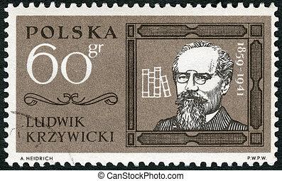 POLAND - 1963: shows Ludwik Krzywicki (1859-1941) - POLAND -...