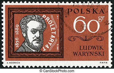 POLAND - 1963: shows Ludwik Tadeusz Warynski (1856-1889) -...