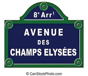 Parisian avenue plates