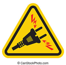 High Voltage Warning Sign - Triangle High Voltage Warning...