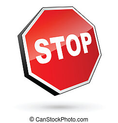 Traffic sign stop - Vector illustration of traffic sign stop