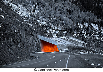 Million dollar highway in Colorado in night