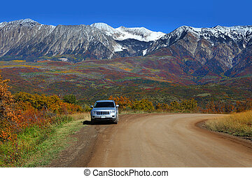 Kebler pass drive - Scenic drive through Kebler pass in...